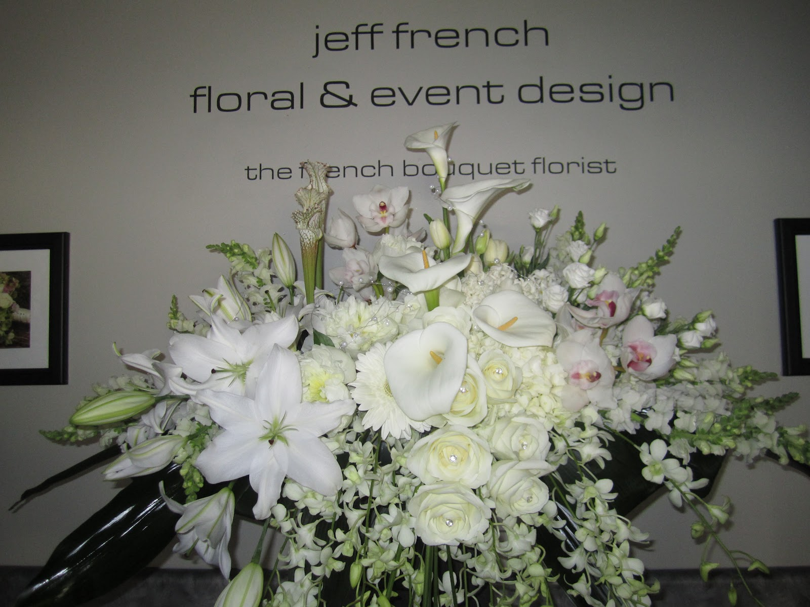 Jeff French Floral Event Design White Funeral Flowers Worcesterma