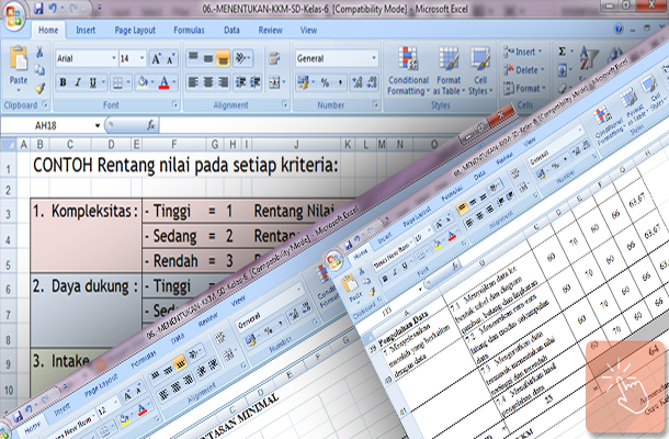 Menentukan Nilai KKM SD Kelas 1 2 3 4 5 6 dengan Aplikasi Microsoft Excel