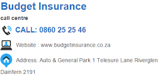 Budget Insurance Customer Service Number South Africa