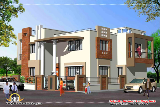 India house design - Elevation - 3200 Sq.Ft.