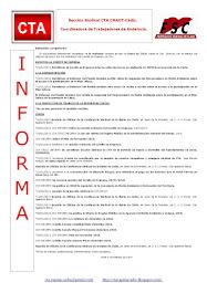 C.T.A. INFORMA, LO REALIZADO EN ENERO DE 2019
