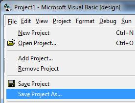 Cara Membuat Project Baru Aplikasi Rental Mobil VB 6.0 SQL Server