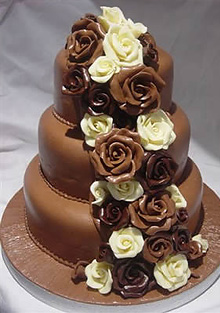 Chocolate Wedding Cake Wedding Decoration Ideas