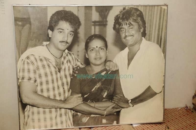 Rajinikanth & KamalHasan with Dance Master 'Puliyur' Saroja