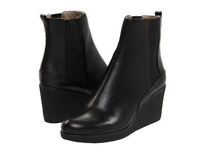 Reblog: Black Wedge Ankle Leather Boots By Jil Sander - World Village