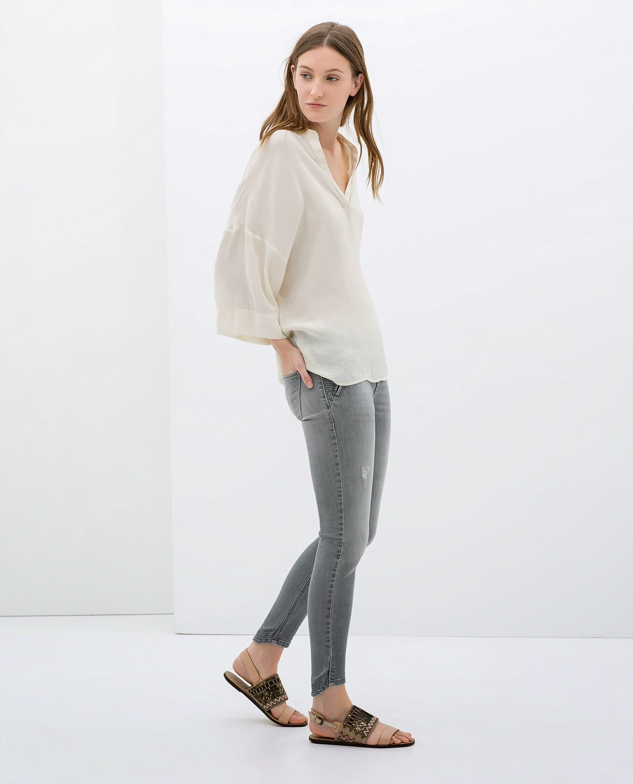 zara grey jeans