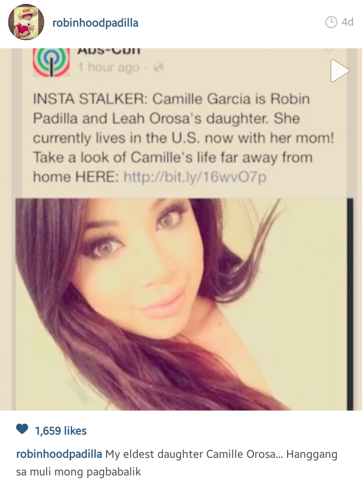 Insta Scoop: Meet Robin Padilla's Daughter with Former Actress <b>Leah Orosa</b> - Screenshot_2014-12-22-23-27-19-1
