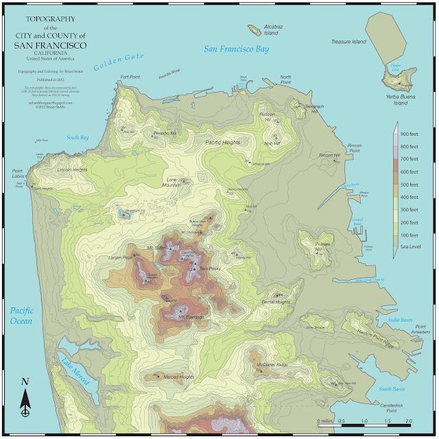 San Francisco Topography