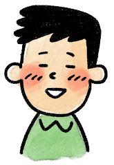 男性の表情のイラスト(照れ)