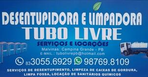 DESENTUPIDORA E LIMPADORA TUBO LIVRE