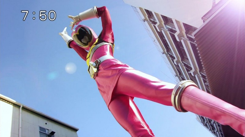 Japanese pink power ranger in trouble 9