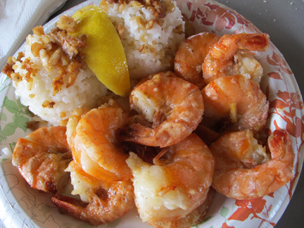 Oahu garlic shrimp