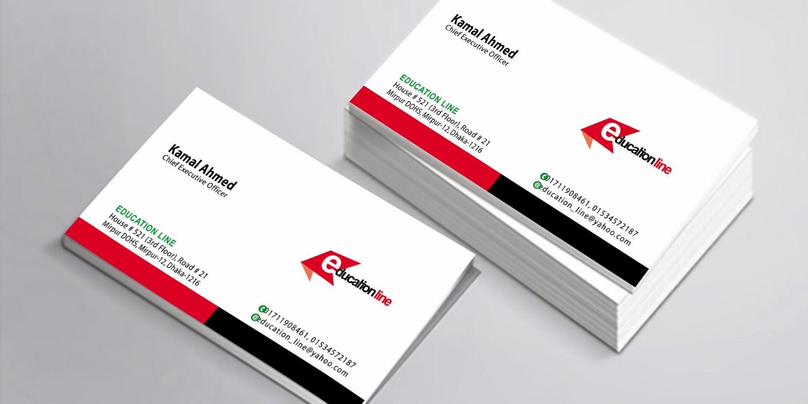 Rongpencill visiting card design 2 education line visiting card design 1 reheart Images