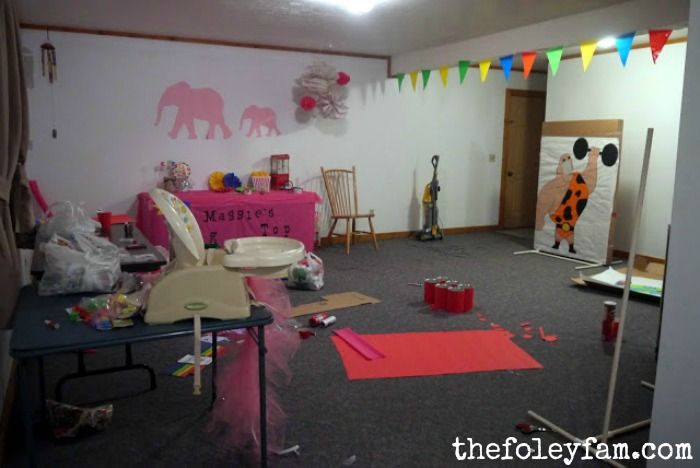 Maggie's 1st Bday - Big Top Pink Elephant Circus Theme ...