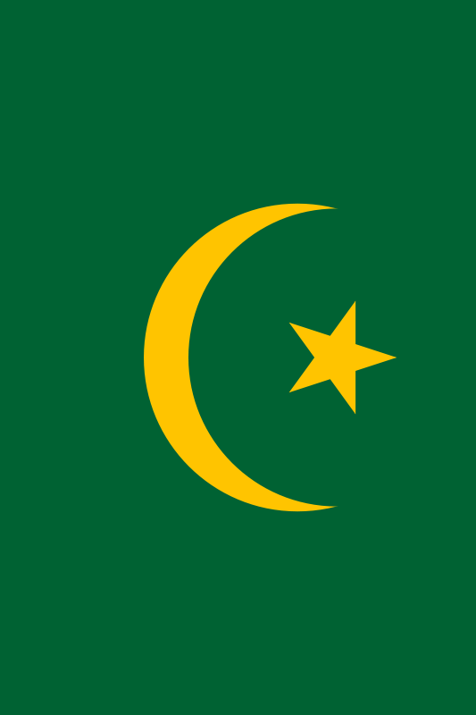 bandera de Mauritania para imprimir
