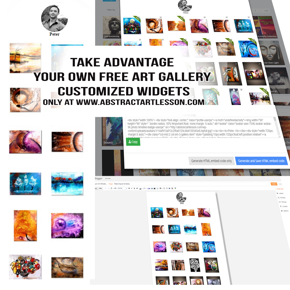 Free Art Gallery Customized Widgets