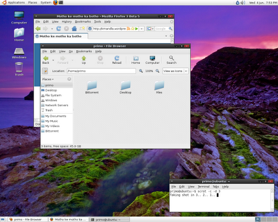 Ubuntu Hardy Screenshot