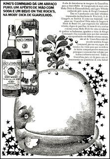 Supermercado Moby Dick - Eletroradiobraz, whisky Command, 1971.  os anos 70; propaganda na década de 70; Brazil in the 70s, história anos 70; Oswaldo Hernandez;
