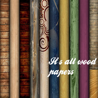 "Free scrapbookpapers ""It's all wood"" from Miriams-scrap"