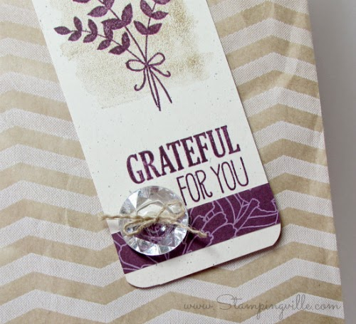 Beautiful, quick, & easy hand-stamped gift tag