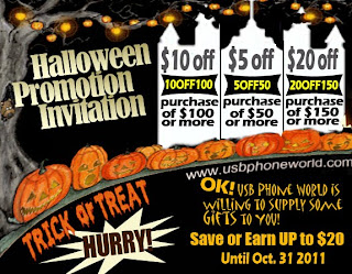 usb phone world halloween day promotion