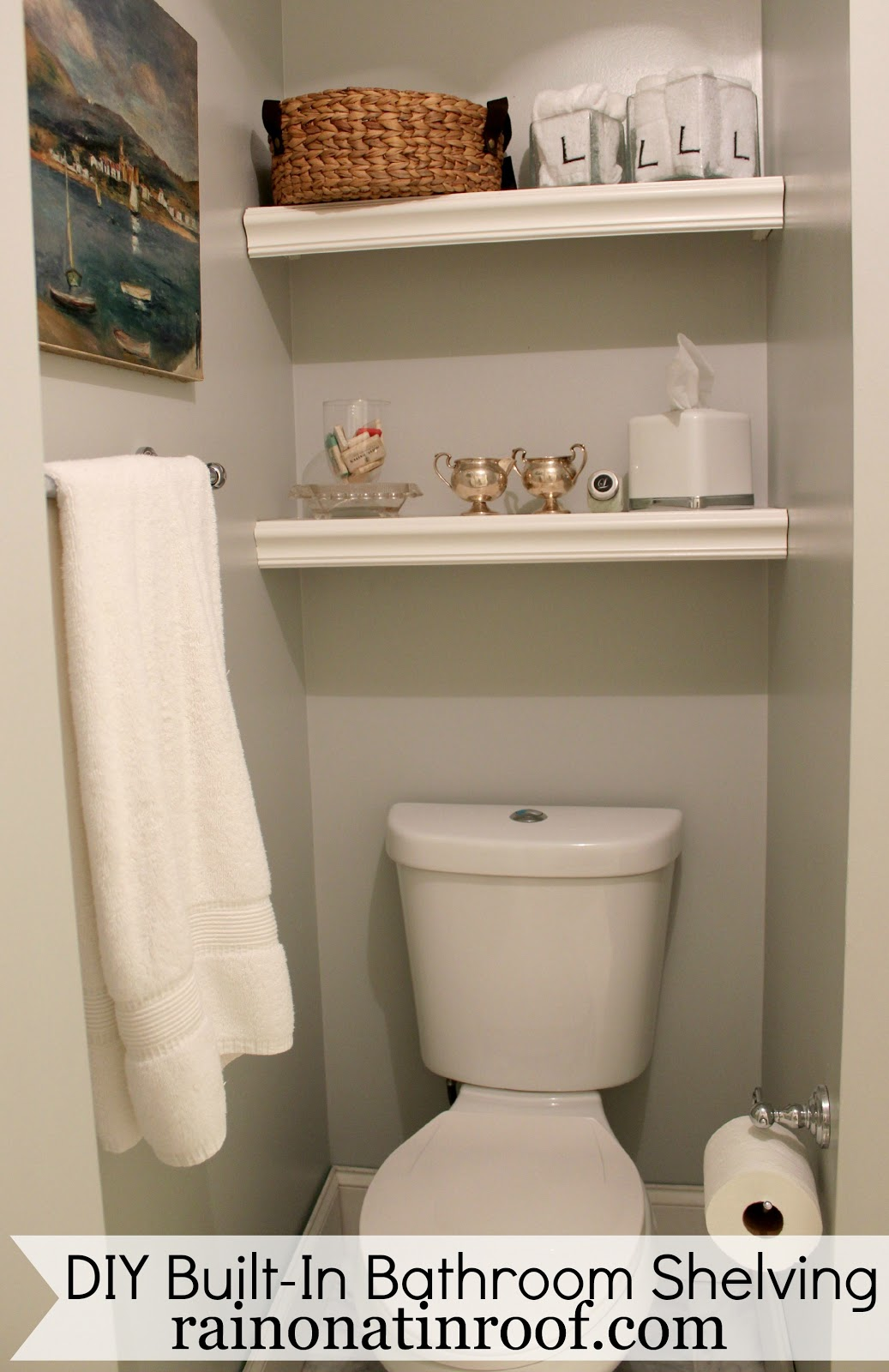 Built-In Bathroom Shelving (DIY for $25 or Less)