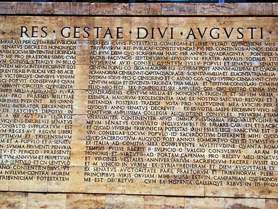 Elogia romani - Res gestae divi augusti ...