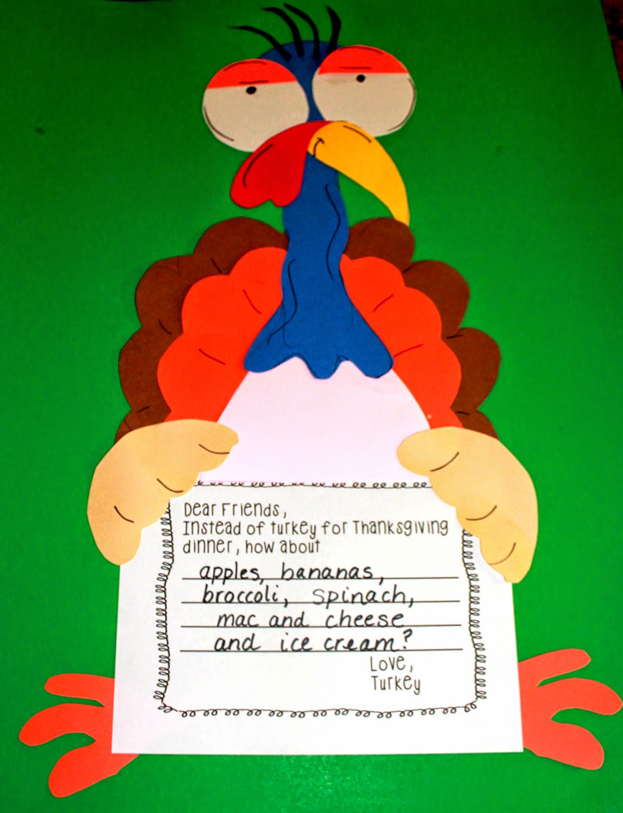 First grade wow talkin 39 turkey number bonds and craft for Turkey crafts for first grade