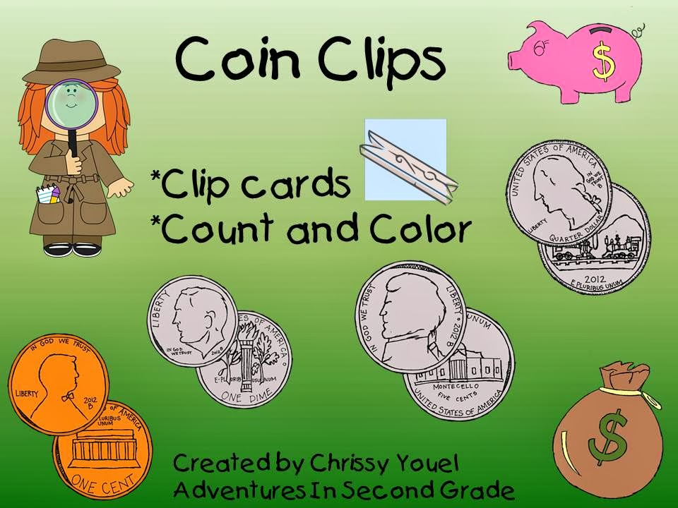 http://www.teacherspayteachers.com/Product/Coin-Clips-Counting-Money-1072743
