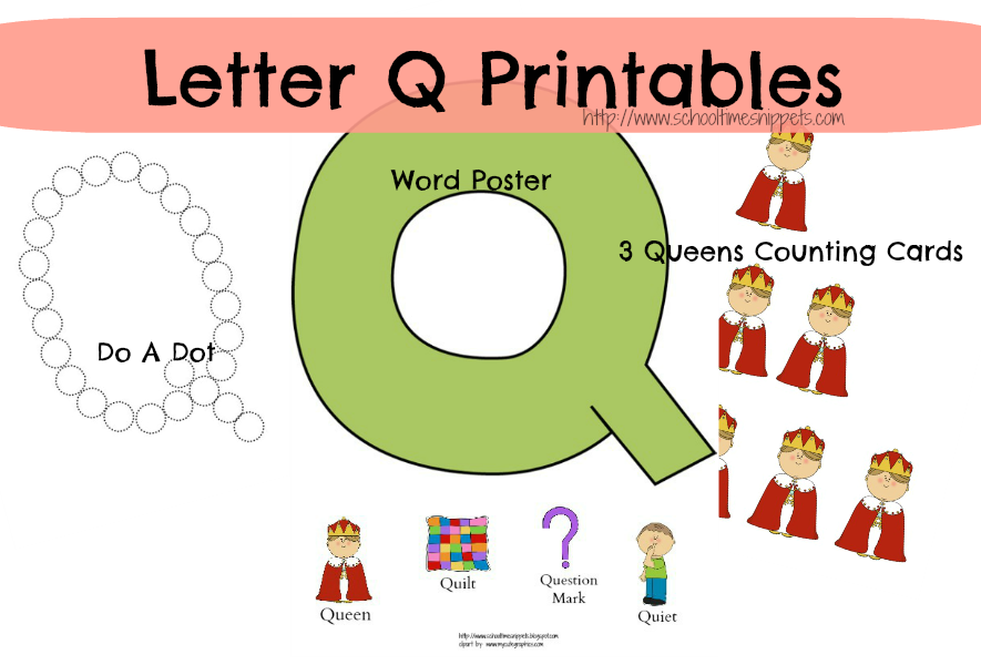 Letter Q Toddler Activities School Time Snippets