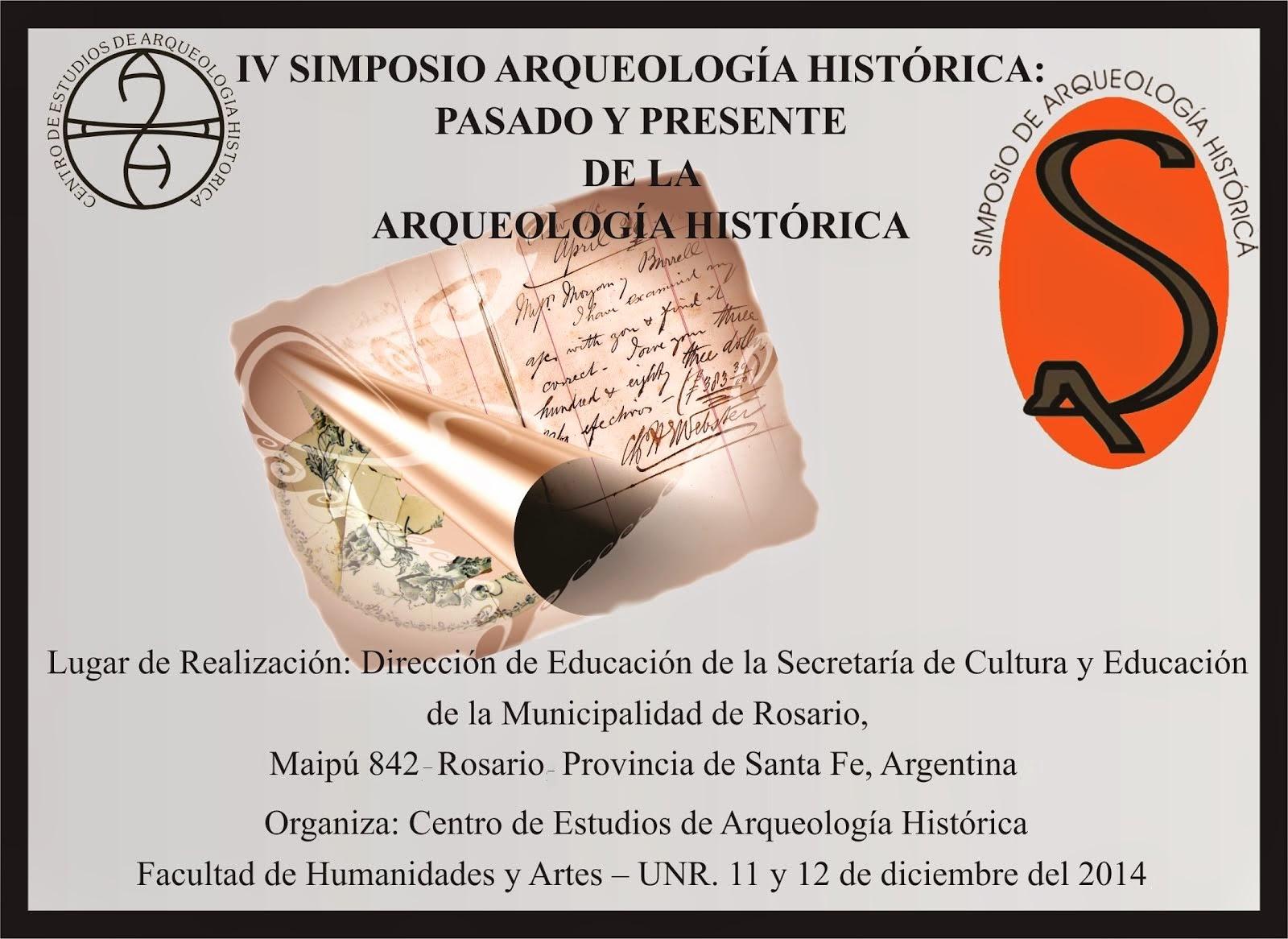 IV SIMPOSIO DE ARQUEOLOGIA HISTORICA