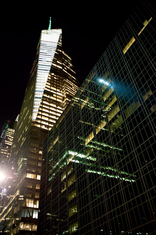Bank of America Tower in New York City at night