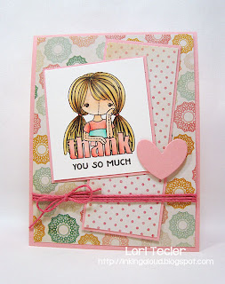 Rag Doll Thank You card-designed by Lori Tecler/Inking Aloud-stamps and dies from Clear and Simple Stamps
