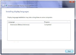 Cara install Windows 7 Language Interface Pack Bahasa Indonesia