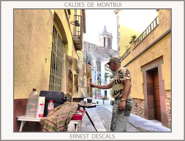 CALDES DE MONTBUI-PINTURA-PAISATGES-CATALUNYA-PREMI-CONCURS-FOTOS-ARTISTA-PINTOR-ERNEST DESCALS-