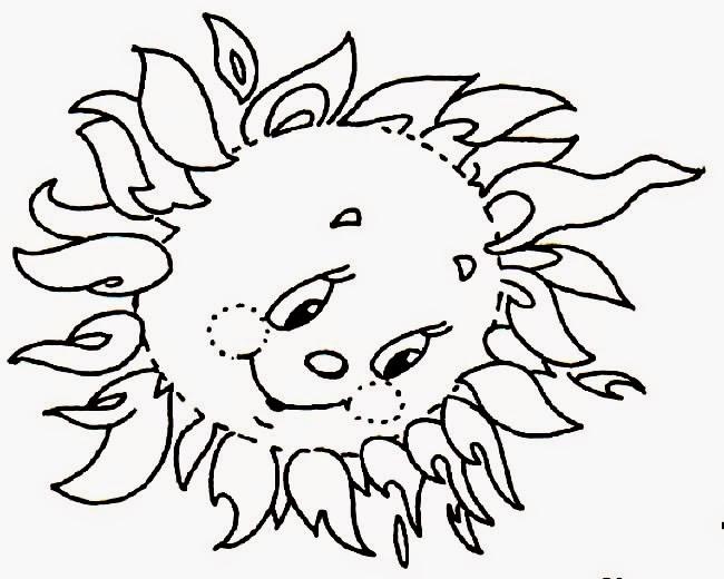 Desenhos de sol para pintar, colorir, imprimir - Sol de