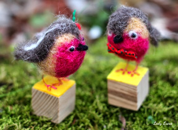 Felted Birds by Lady Lucas