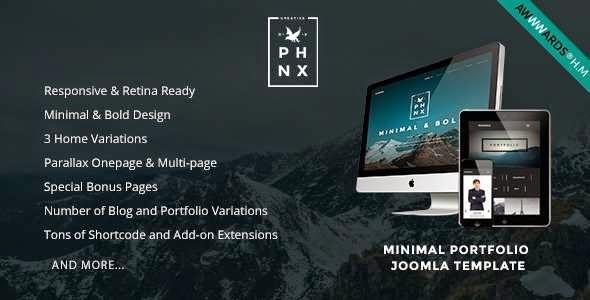 Phoenix - Minimal Portfolio Joomla Template