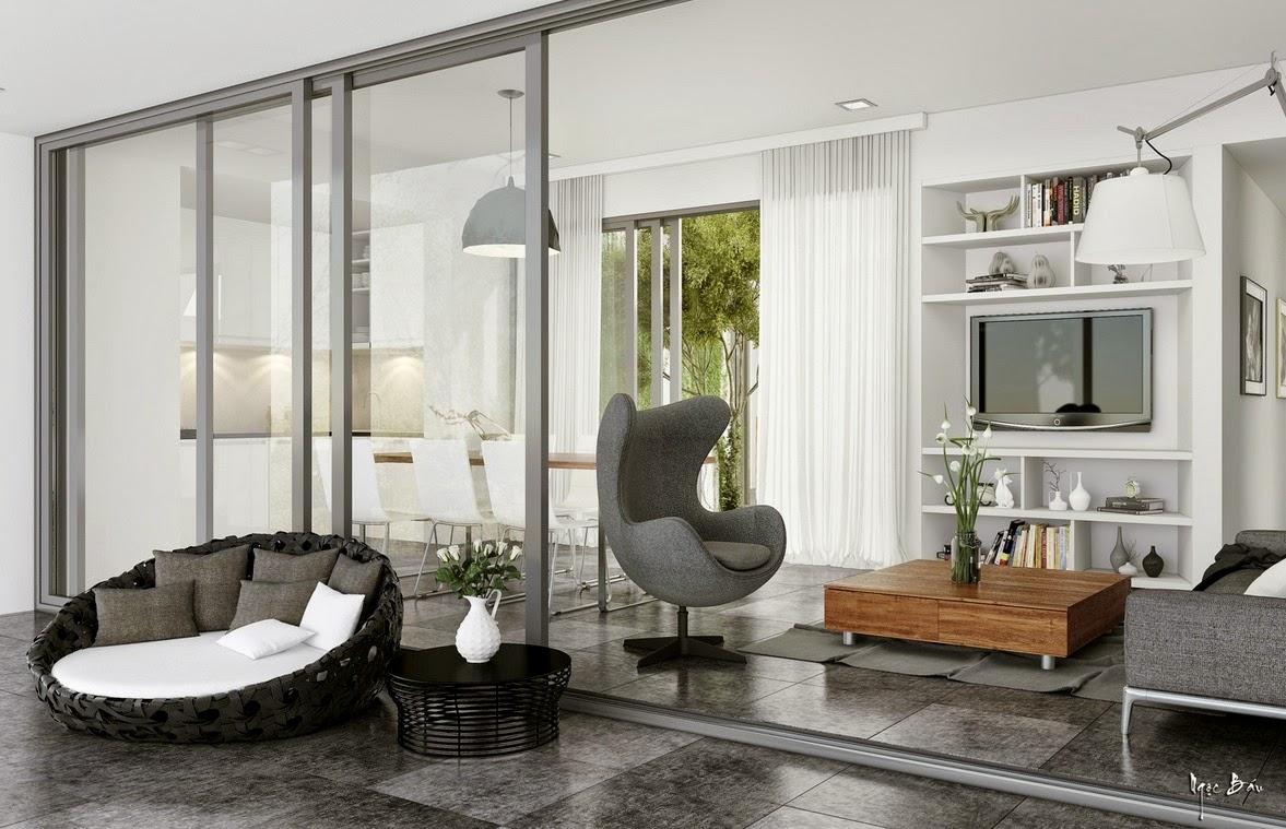 Hogares frescos dise o de interiores con acentos for Disenos de interiores rusticos