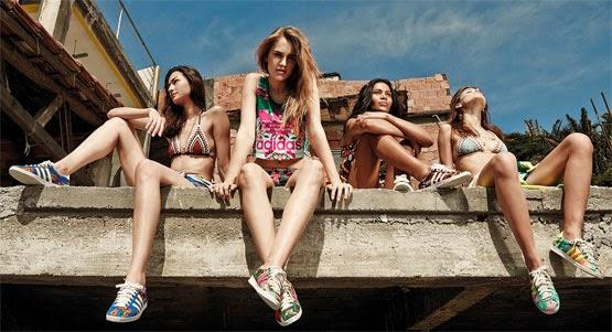 colección Adidas Originals y Farm tops bikinis shorts y zapatillas deportivas