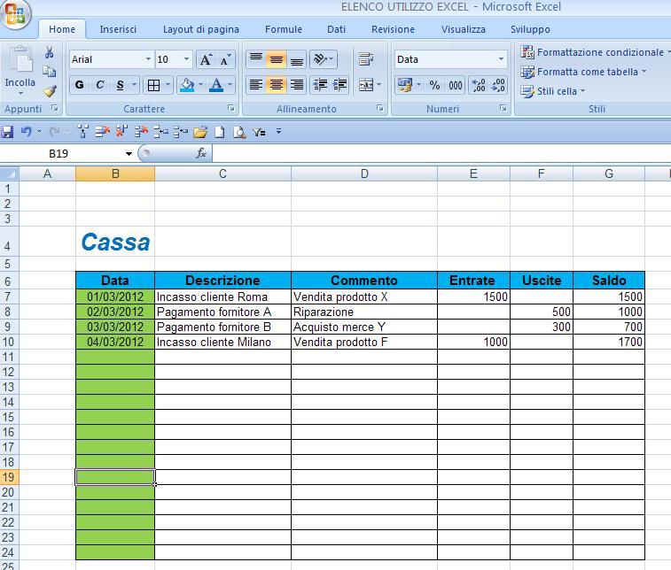Come Excel