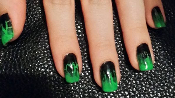 halloween poison nails