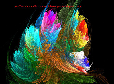 Amazing 3D abstract bouquet Sketches wallpapers
