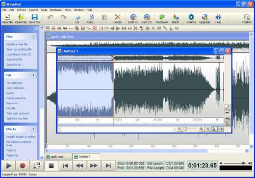 Software Audio Editing Gratis dan Terbaik Untuk Komputer - WavePad 1