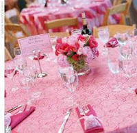 Wedding decoration, purple and pink