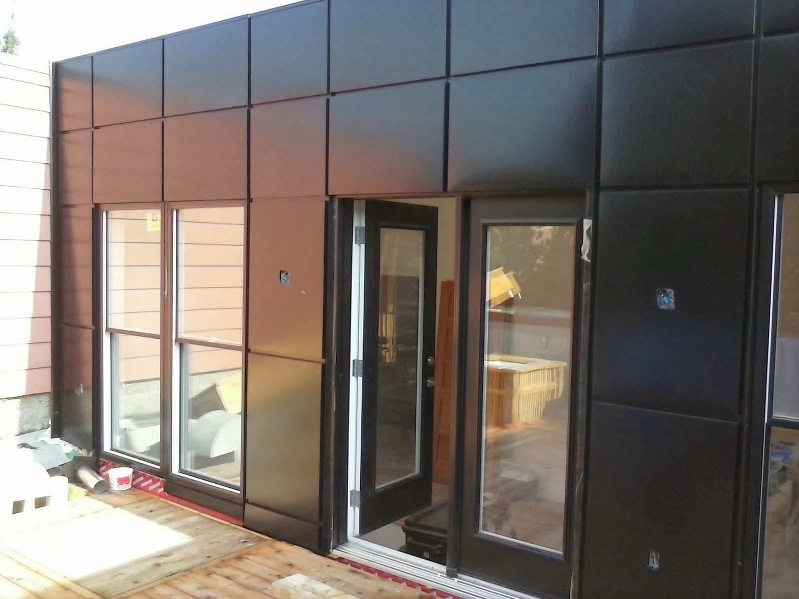 ferblanterie de patrimoine bardage en tole pr peinte noir. Black Bedroom Furniture Sets. Home Design Ideas