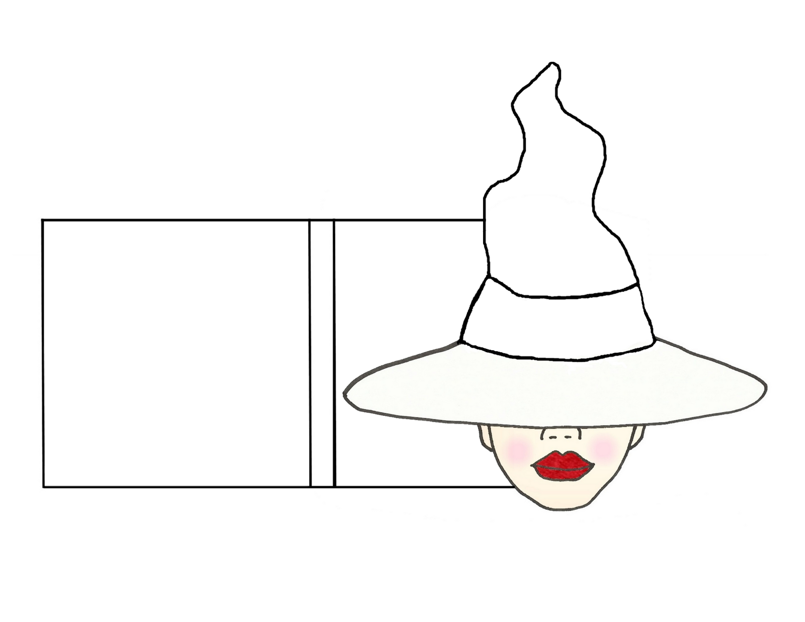 Paper witch hat template image collections professional for Paper witch hat template