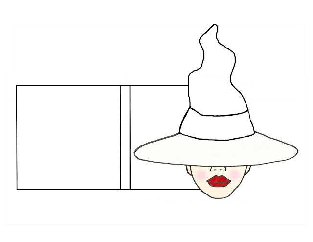 paper witch hat template - lucine 39 s post it note holders