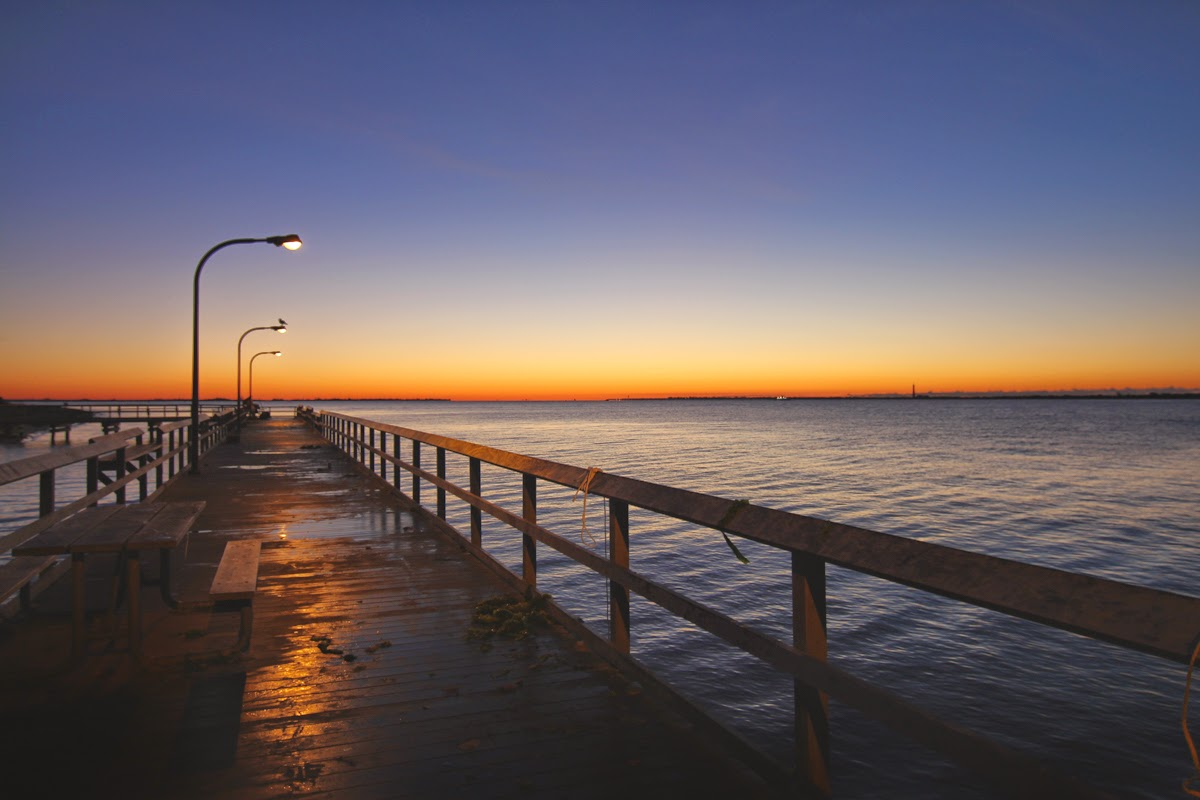 jones beach pier sunrise