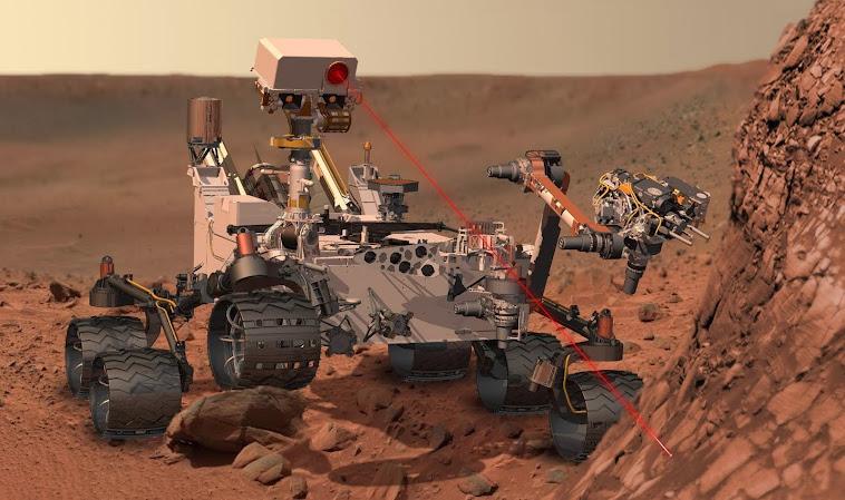 Curiosity operando (simulación)